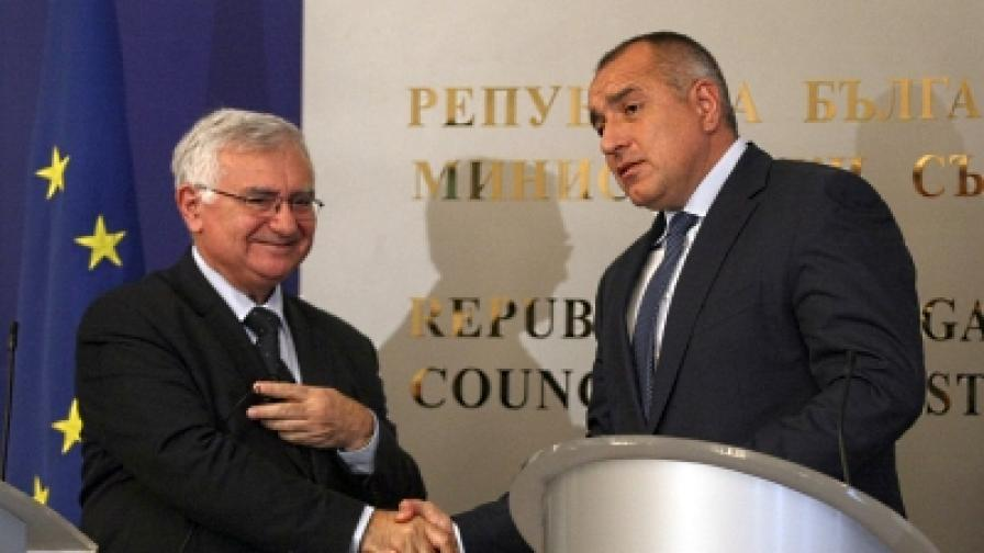 Министър-председателят Бойко Борисов се срещна днес с европейския комисар по здравеопазването Джон Дали