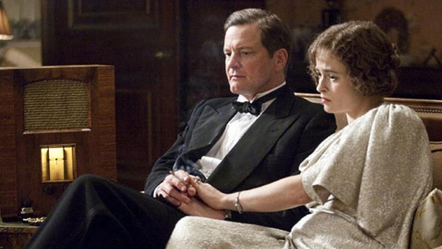 """Колин Фърт като крал Джордж VI и Хелена Бонъм Картър като кралицата майка Елизабет в """"Речта на краля"""""""