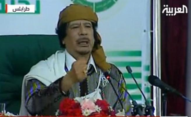 Кадафи: Аз водих революцията, след това се оттеглих в шатрата си