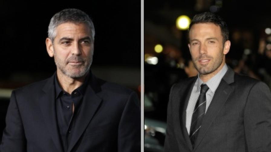 Джордж Клуни (вляво) и Бен Афлек (вдясно)