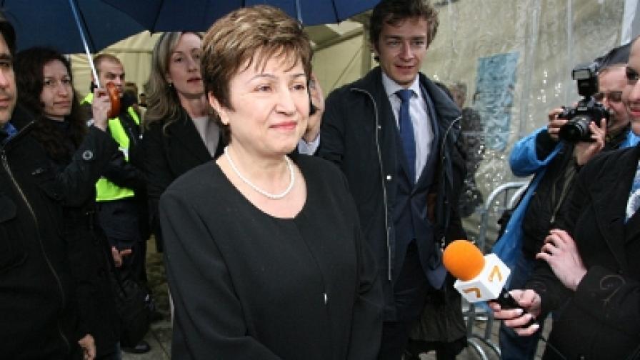Еврокомисарят за международно сътрудничество, хуманитарна помощ и реакция при кризи Кристалина Георгиева