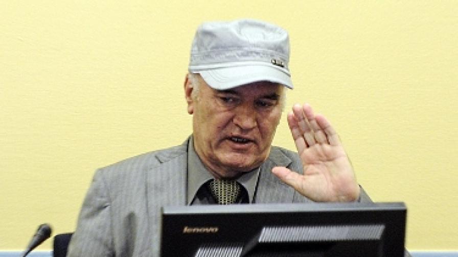 """Младич бил """"тежко болен"""" и не иска да слуша обвиненията"""