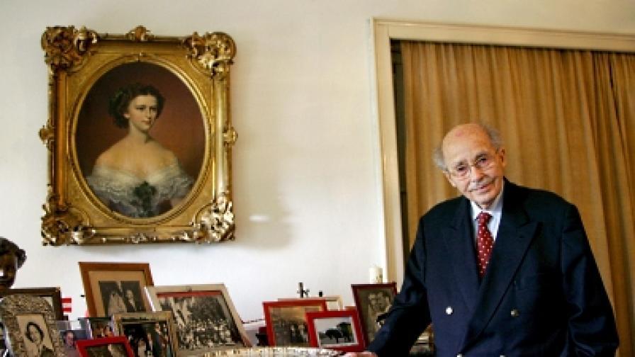 Ото Хабсбург-Лотринген (1012-2011) - фотография от юни 2007 г. в дома му в Пьокинг в Германия