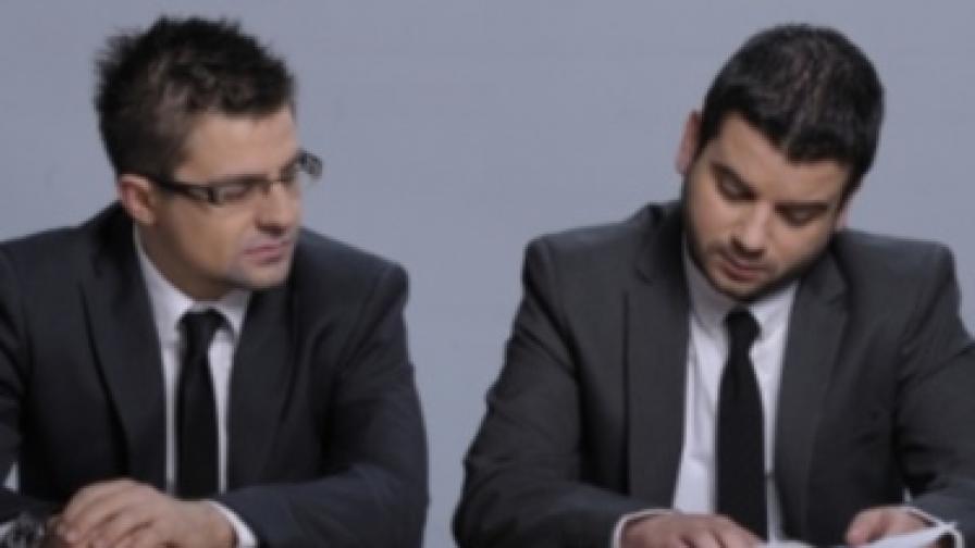 Телевизионните водещи и продуценти Иван и Андрей