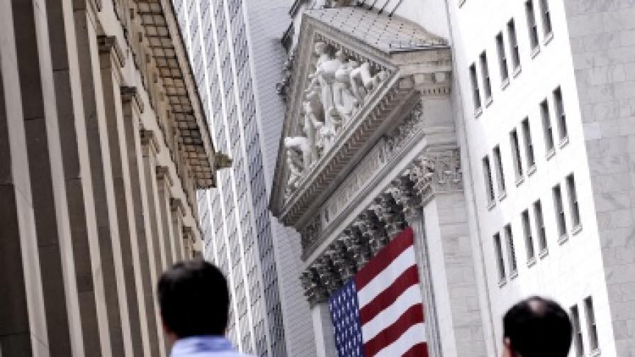 Сградата на Нюйоркската фондова борса на Уолстрийт
