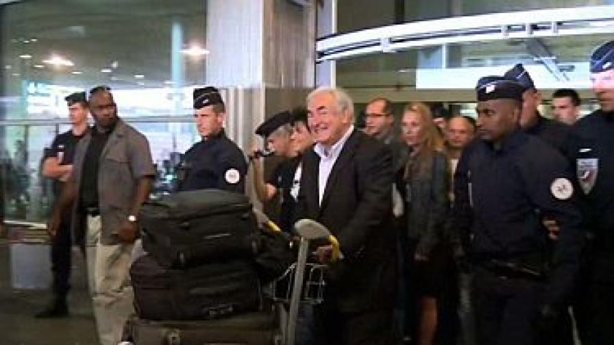 Голям медиен интерес около завръщането на Строс-Кан в Париж