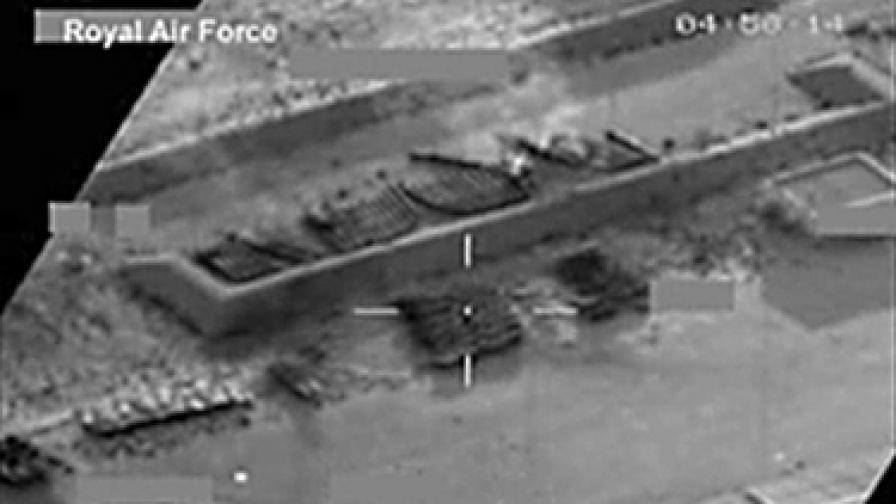 Кадри, заснети от британските военни по време на мисията на НАТО