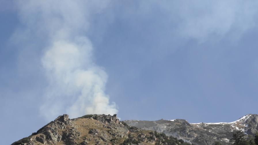 Голям пожар, вероятно умишлен, в Централен Балкан