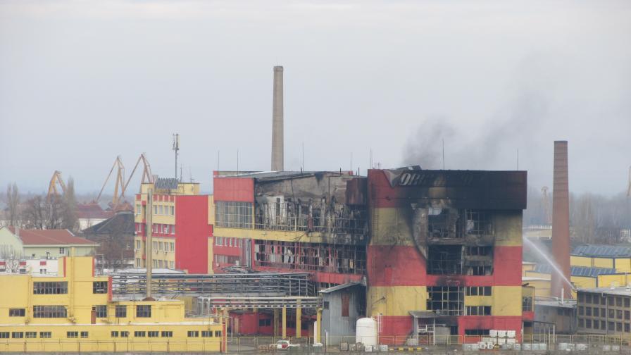 """Няма опасност за населението след пожара в """"Оргахим"""""""
