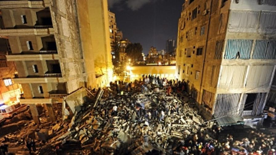 Жилищна сграда рухна в Бейрут, има загинали