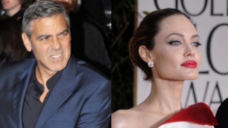 Клуни и Джоли не си говорят от години?