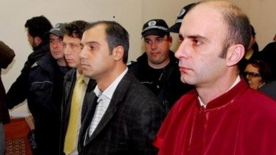 Кирил Рашков - младши по време на процеса в Асеновградския районен съд