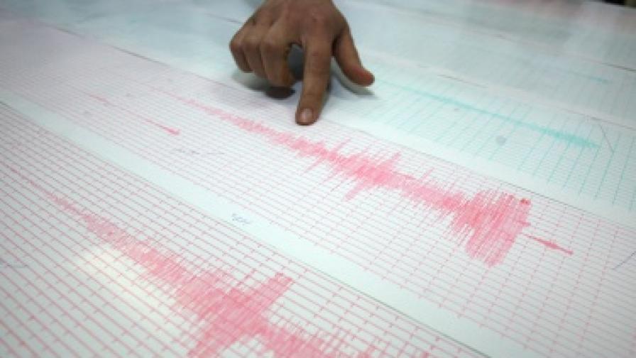 Леко земетресение на територията на България