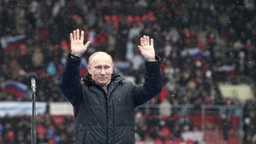 Изследване: Путин ще спечели с 2/3 от гласовете