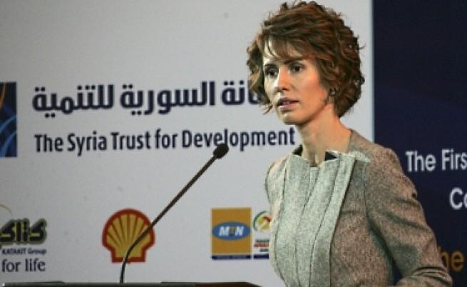 ЕС санкционира и Асма Асад, спира й шопинга