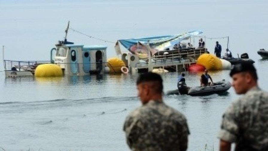 """Корабчето """"Илинден"""" потъна в Охридското езеро на на 5 септември 2009 г. Удавиха се 15 български туристи"""