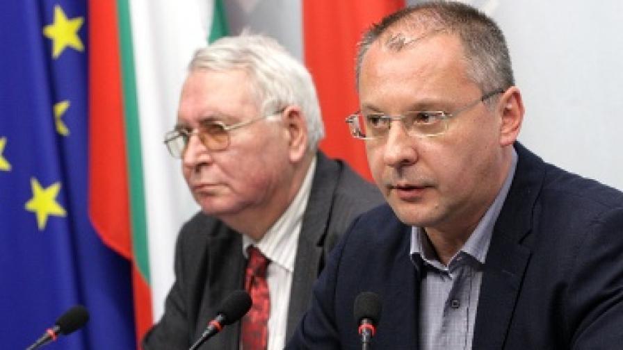 Сергей Станишев и Любен Корнезов