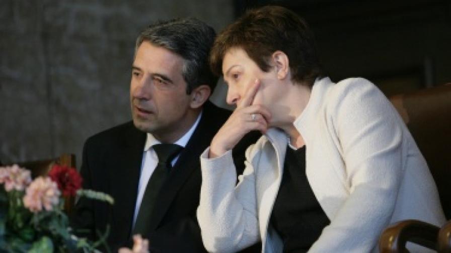 Президентът Росен Плевнелиев и Кристалина Гергиева откриха публичната дискусия за Деня на Европа в Аулата на СУ