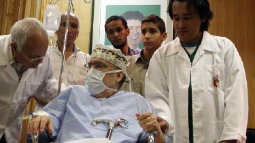 Меграхи в болница в Триполи през септември 2009 г.