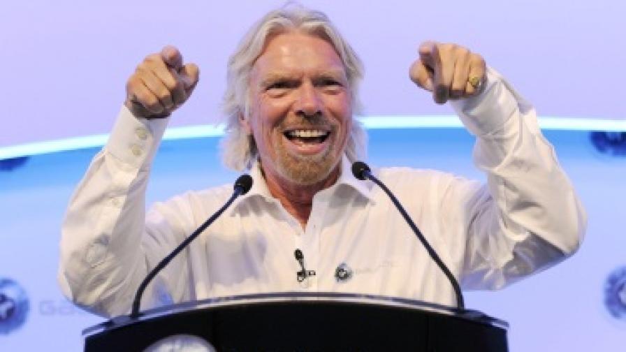 Милиардерът Ричард Брансън, собственик на компанията Virgin Galactic