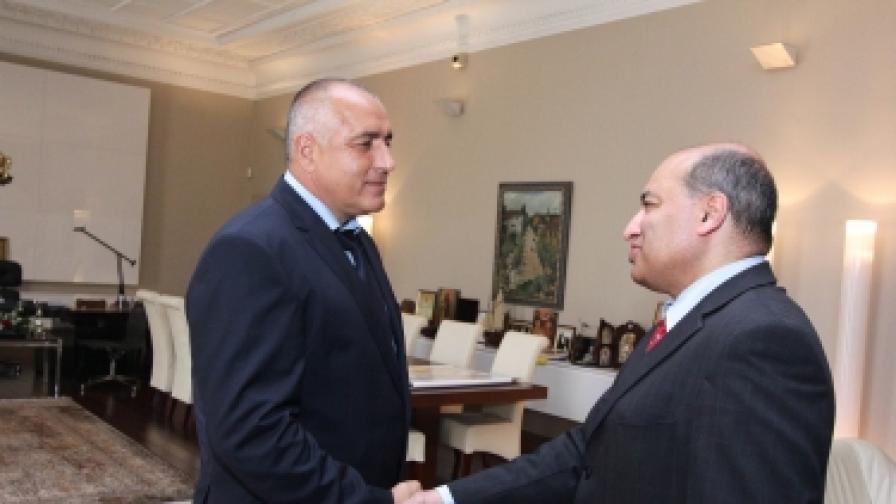 Премиерът Бойко Борисов се срещна с президента на ЕБВР сър Сума Чакрабарти