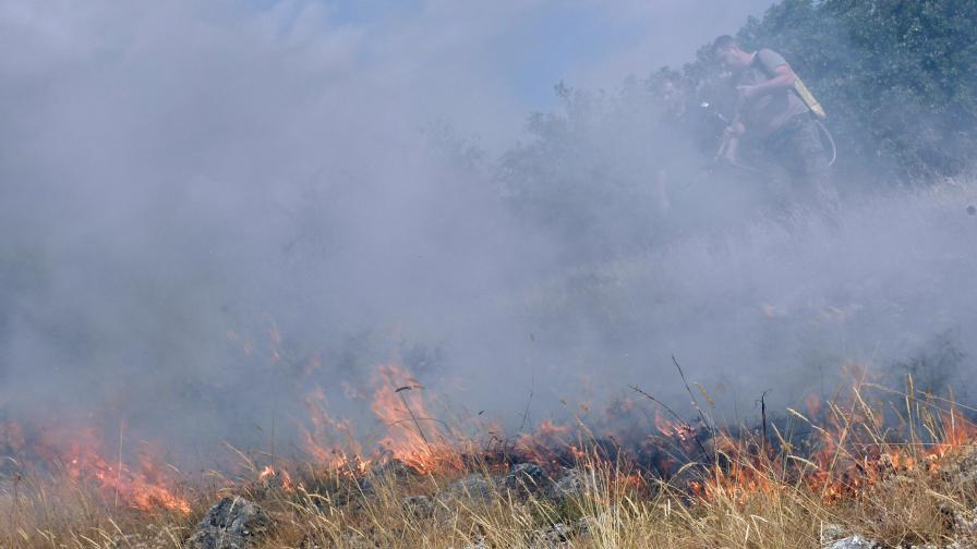 Локализираха пожара в Новозагорско