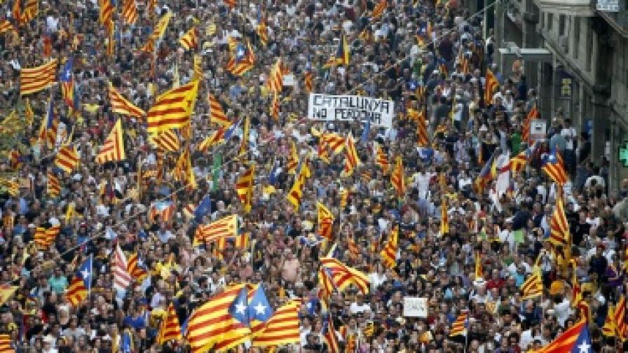 Над 1 млн. души в демонстрация за независима Каталония