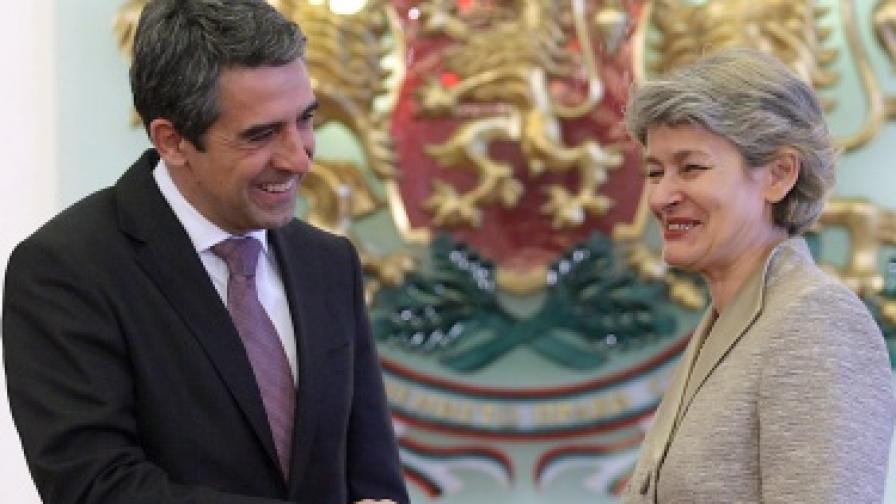 Росен Плевнелиев се срещнa с генералния директор на ЮНЕСКО Ирина Бокова на 20 февруари т.г.