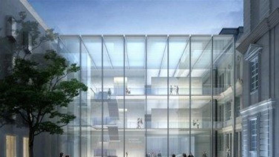 По проект така изглежда вътрешният двор на бъдещия Национален музеен комплекс