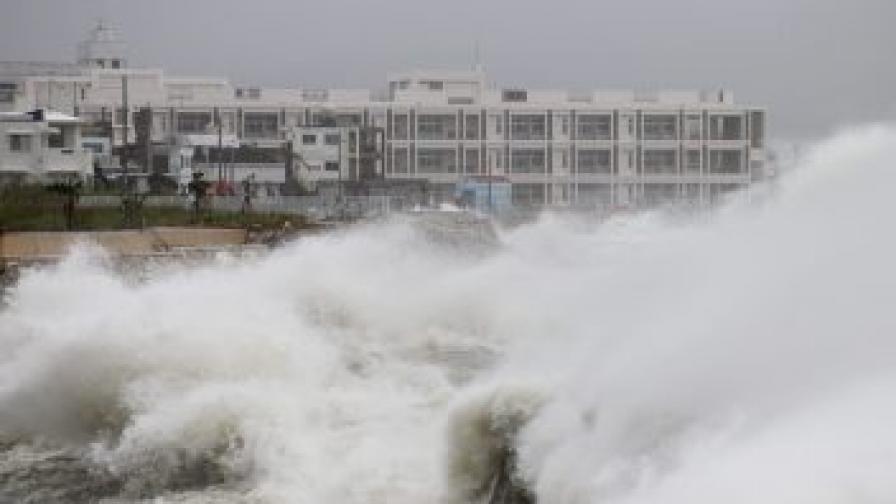 Тайфунът Джевалат връхлетя Япония