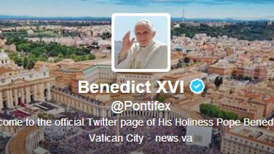 """Папата с над половин милион последователи в """"Туитър"""""""
