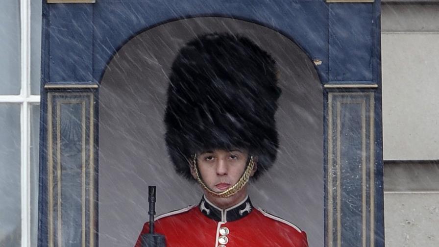 Априлски сняг изненада Лондон