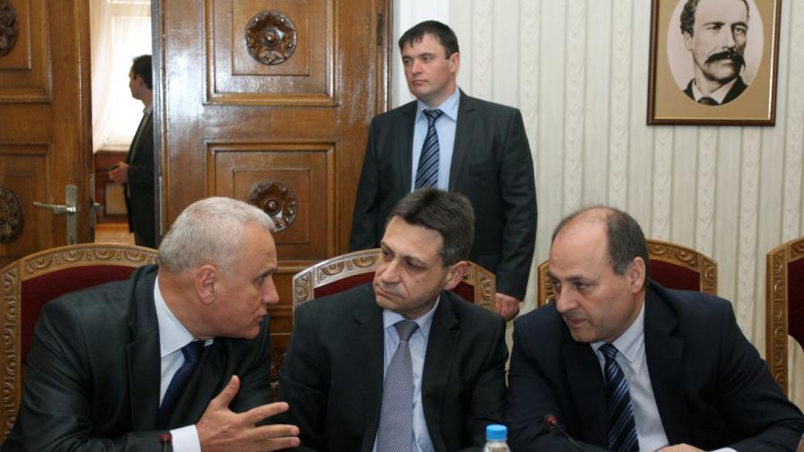 Веселин Иванов, Драгомир Димитров и Евтим Костадинов на среща при държавния глава