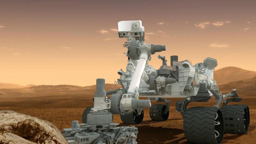 """Кюриосити"" поема към планината Шарп на Марс"