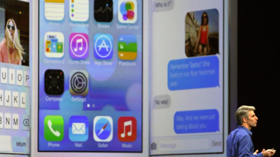 iOS 7 разчита на неоновата гама