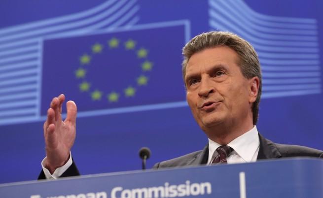 """Гюнтер Йотингер обвърза перспективите на """"Южен поток"""" с позицията на Русия за Украйна"""