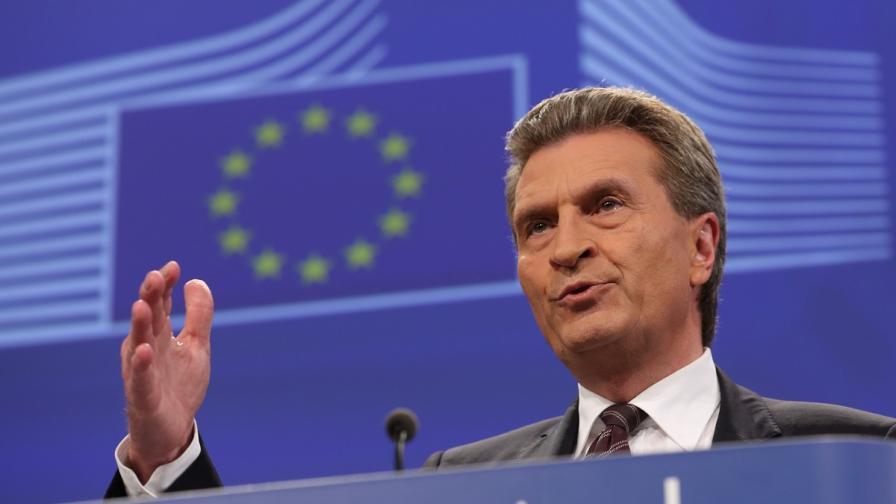 Комисар Йотингер оцени енергийното положение на България