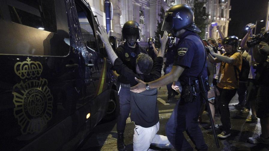 Няколко ранени на протест срещу правителството в Мадрид