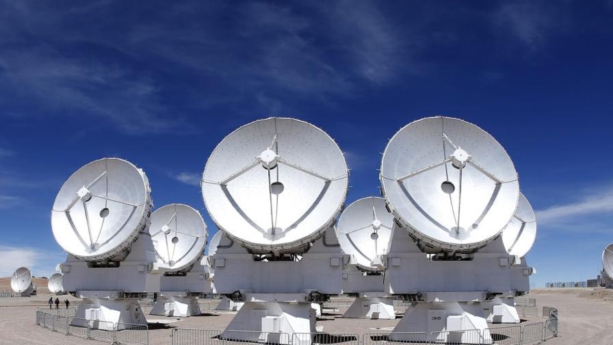 Няколко от антените на АЛМА