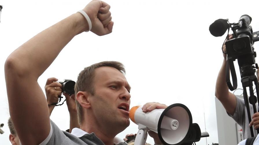 Задържаха за кратко Навални след негов митинг