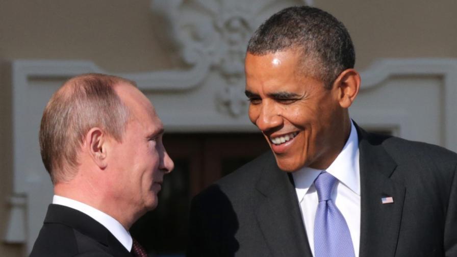 Путин и Обама: Усмихнати на срещата на Г-20