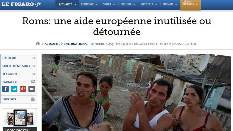 """""""Фигаро"""": Помощта от ЕС за ромите не се използва или се отклонява"""