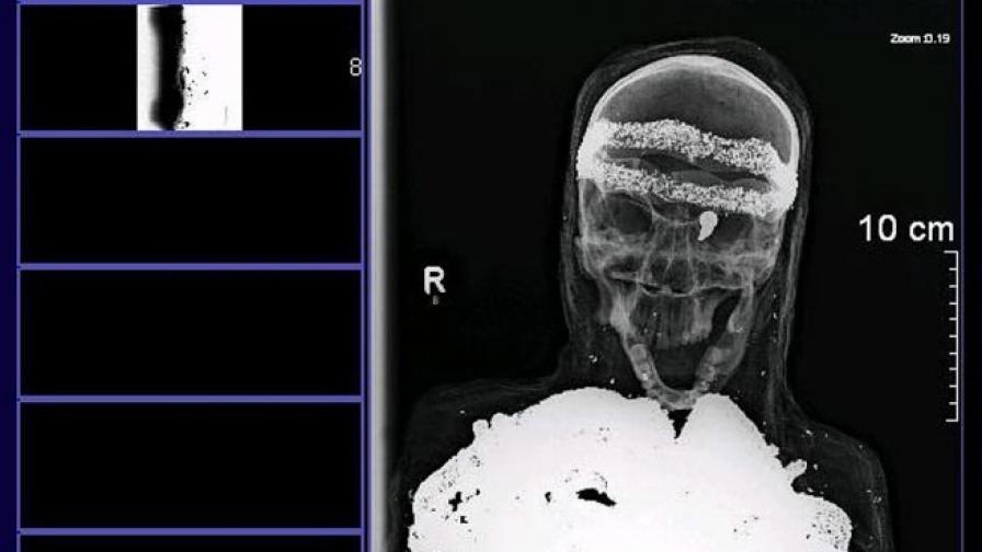 Мумията, открита на таван в Германия, се оказа пластмасова