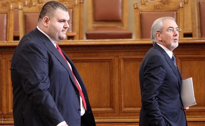 Делян Пеевски и Лютви Местан в Парламента