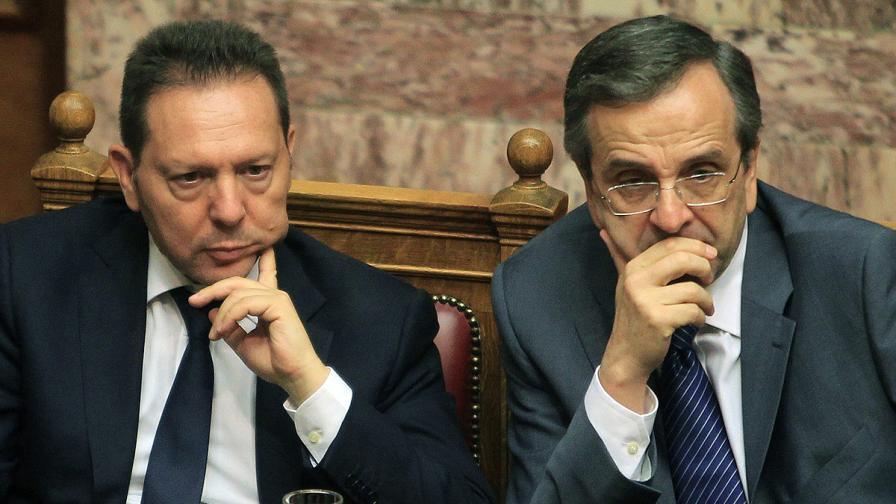 Янис Стурнарас (вляво) и Андонис Самарас