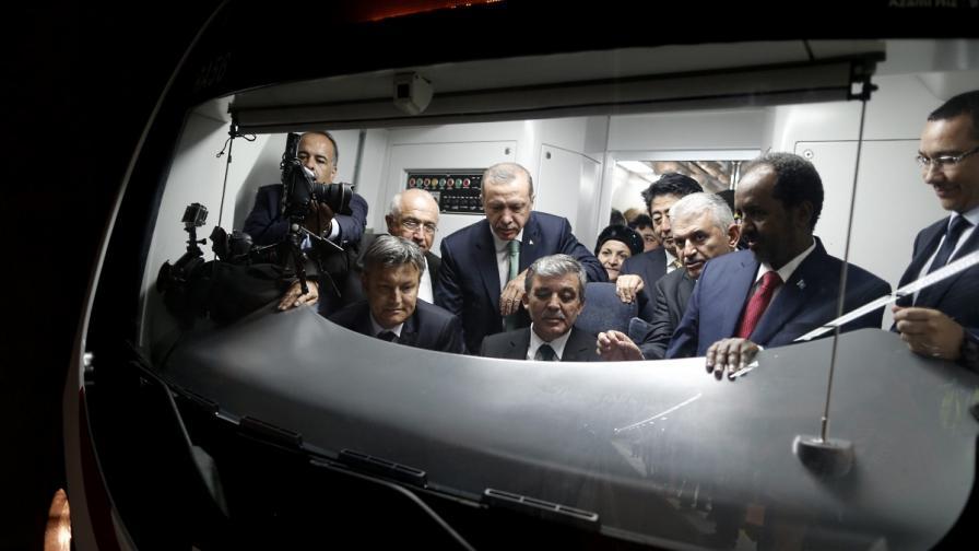 Турция откри официално жп тунел мечта