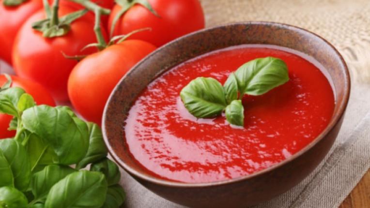 супа домати босилек кипване лайм лесно приготвяне кисело мляко