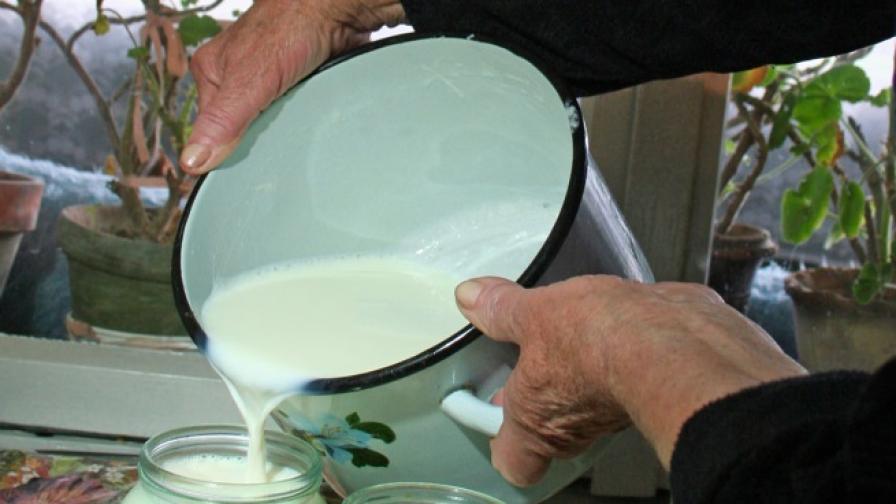 """Млекопроизводители  блокираха за два часа  """"Дунав мост"""""""
