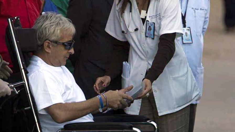 Пиърсинг на езика контролира инвалидна количка