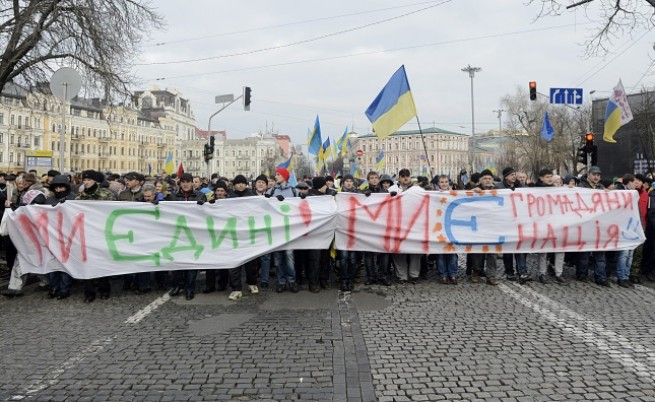 Протестиращи в Киев
